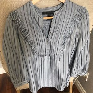 Marc by marc jacobs silk bib striped blouse